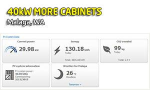 40kW MORE Cabinets, Malaga, WA
