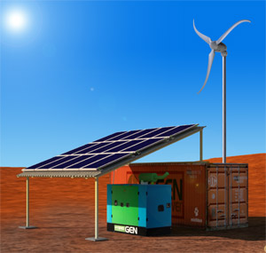 Solar-Wind-Diesel Hybrid Systems for Remote Areas