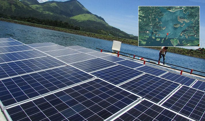 500 kW floating solar system