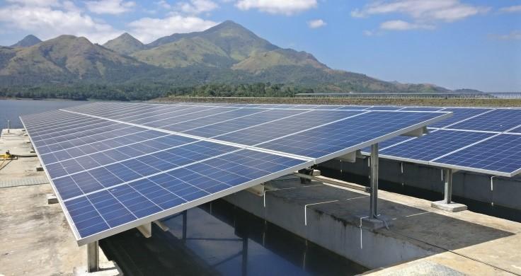 Banasurasagar floating solar panels