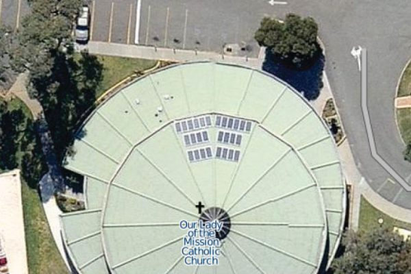 5.32kW whitfords catholic church commercial solar project