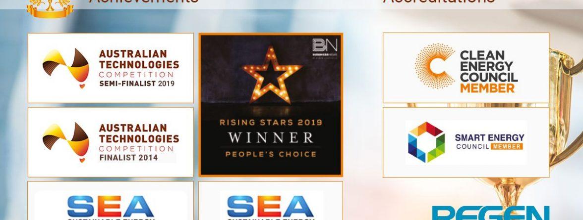 regen power solar installer awards over the years