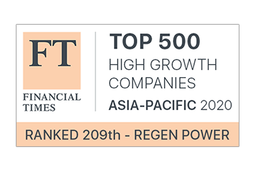 Regen is ranked 209th High Growth Companies in Asia-Pacific 2020