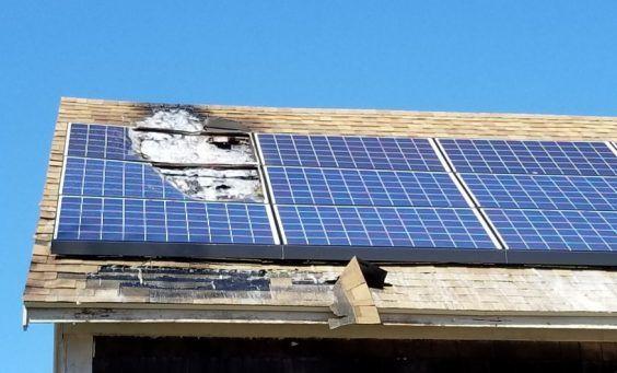 fire risk in solar panels