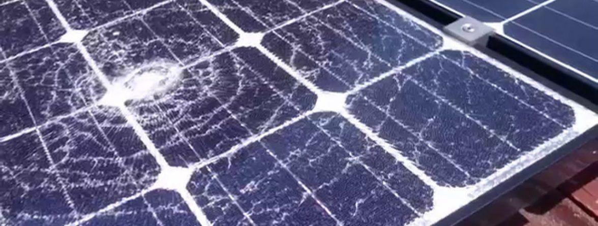 Damages endured by solar panels